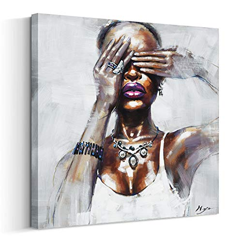 - Artinme Framed African American Black Art Dancing Black Women in Dress Wall Art Painting on Canvas Print Wall Picture for Home Accent Living Room Wall Decor (24 x 24 inch, I)