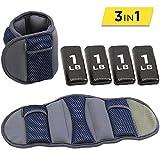 Empower Pair Adjustable Ankle/Wrist Weights, 8-Pound, Blue
