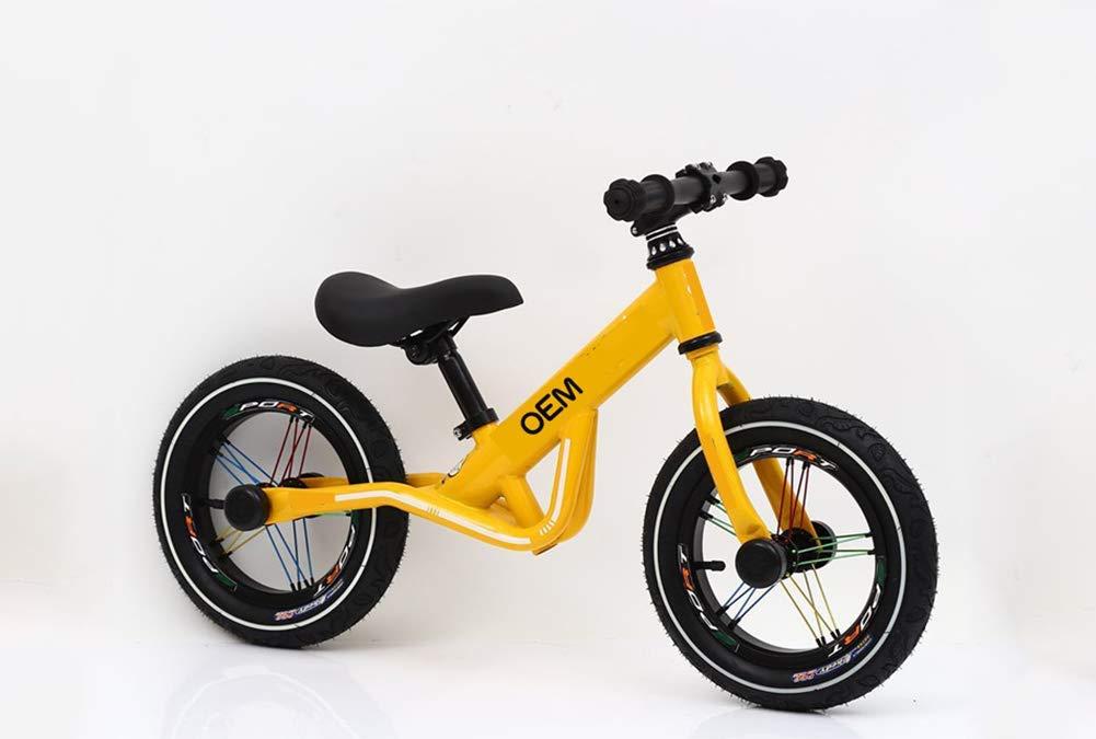 c35518f6b 1-1 Bicicleta Infantil De Equilibrio, Bicicleta Sin Sin Sin Pedales (para 2~6  Años Niños, Marco De Acero Carbón, Manillar Y Asiento Ajustables),Yellow ...