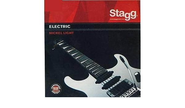 Real Juego de acordes de guitarra eléctrica stagg 09/42-0942 el: Amazon.es: Instrumentos musicales