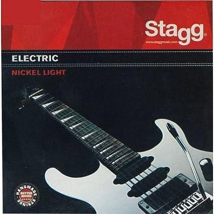 Real Juego de acordes de guitarra eléctrica stagg 09/42-0942 el