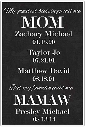 My Greatest Blessings Call Me Mom - Favorite Calls Me Mamaw - Custom Art Poster Print