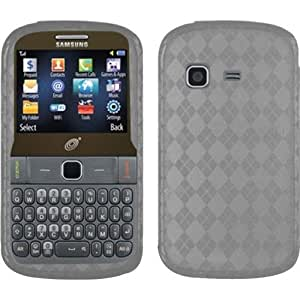TPU Rubber Case Cover For Samsung Freeform M T189N / S390G - Smoke