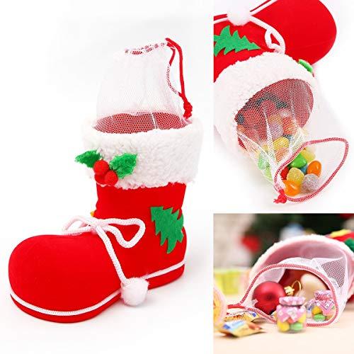 Pendant Drop Ornaments - 1pcs Gift Candy Christmas Shoes Xmas Decoration Tree Boots Stocking Hanging Bag Elfs M - Christmas Tree Elf Claus Doll Green Ornaments Christmas & Shoe Lantern -