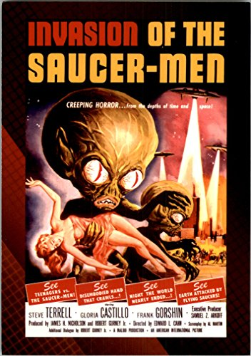 2007 Classic Science Fiction and Horror Posters Series 1 #28 Invasion of the Saucer-Men - NM-MT