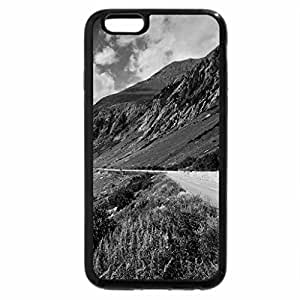 iPhone 6S Case, iPhone 6 Case (Black & White) - lovely road next to a river valley