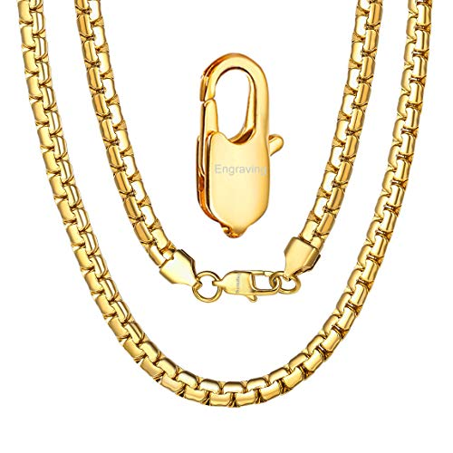 Mens Gold Box Chain 24