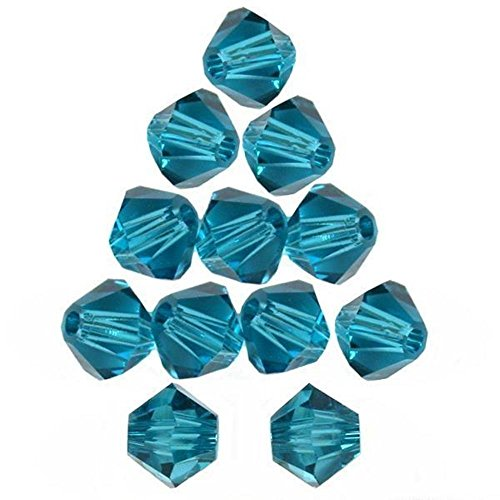 12 Indicolite Bicone Made With Swarovski Crystal Beads 5301 6mm