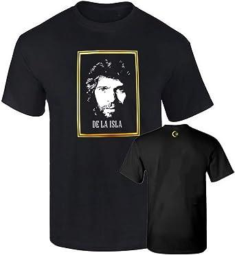 Camiseta Hombre Oficial CAMARON DE LA Isla Flamenco Impresion Oro Algodon 190grs