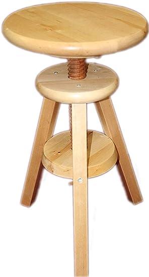 eHemco Wooden Adjustable Stool