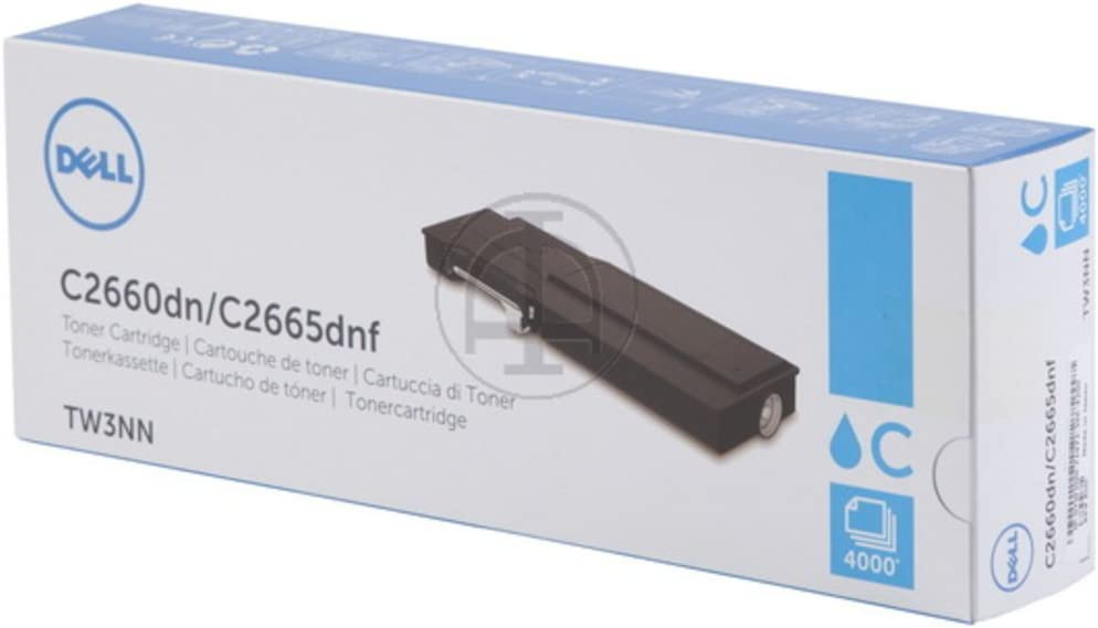 Dell TW3NN Cyan Toner Cartridge C2660dn/C2665dnf Color Laser Printer