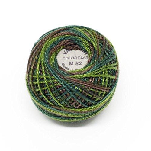 Valdani Perle Cotton Size12 Embroidery Thread, 109 Yard Ball - m82 Backyard Greenfield ()