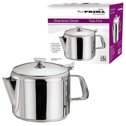 STAINLESS STEEL 16OZ TEA POT COFFEE KITCHEN FLIP LID HANDLE RESTAURANT HOTEL NEW OOTB