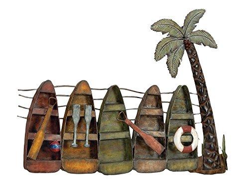 Deco 79 68012 Metal Wall - Coastal Decor Palm Trees