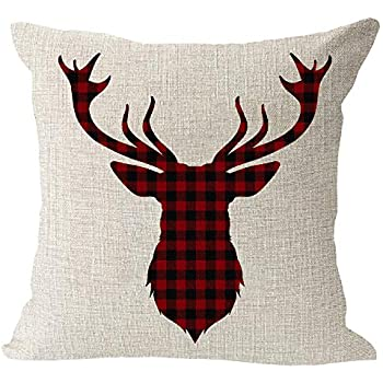 Amazon.com: Juego de 2 fundas de cojín decorativas para sofá ...