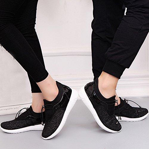 Running Women' Transpirable Malla 'S Unisex Negro Casual Zapatos S De Zapatillas Deportivas Men ALIKEEY w8EqxA7U