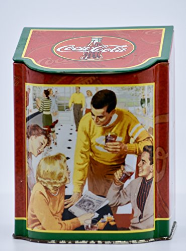 2003 - Tin Box Company - Coca-Cola Slope Lid Caddy Tin - 5.5x4.5x4 Inch - Exclusive - Collectible