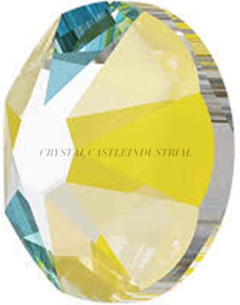 CTOBB 6A Los Mejores Zapatos de Diamantes de imitación sin revisión Laca de Cristal de Cristal Delite Nail Art Strass 3D Piedras de uñas para Manualidades, 384 Sunshine, SS6 1440Pcs