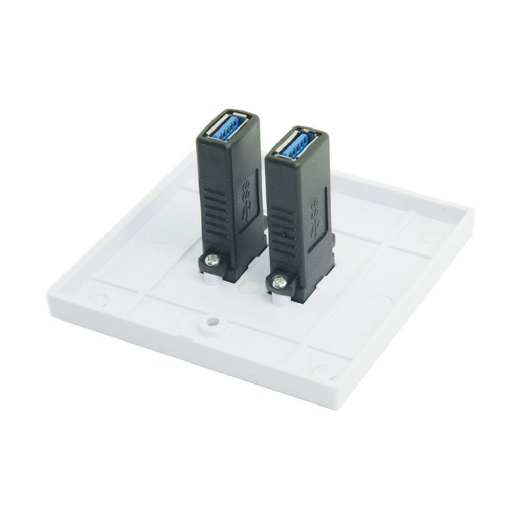 Dual Ports USB 3.0 Data Charger Wall Face Plate Panel Dock Station 86mm Square Type TL-047
