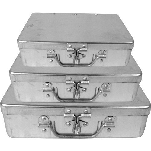Trademark Tools™ 3 Pc Aluminum Storage Box w/ Lockable Clasp by Trademark