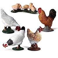 Hibon Farm Animals Figurines Simulated Farm Life Realistic Plastic Animals Figurines for Kids' Collection Educational…