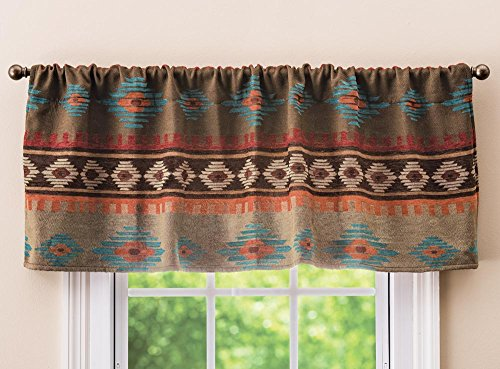 - BLACK FOREST DECOR Canyon Shadows Diamond Rustic Valance