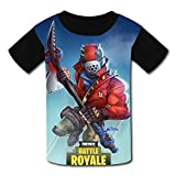 Hmgoae Kids T-Shirts Fortnite Battle Royale - Rust Lord Casual 3D Short Sleeve Cool Top Tees