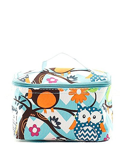 N Gil Teal Owl Makeup Bag