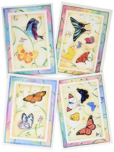 Divinity Boutique Greeting Card Assortment - Birthday for Her, Butterflies (17956N)