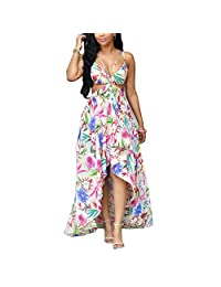 Sunroyal Women Lace Contrast Chiffon Formal Party Gown Bridesmaid Wedding Dress