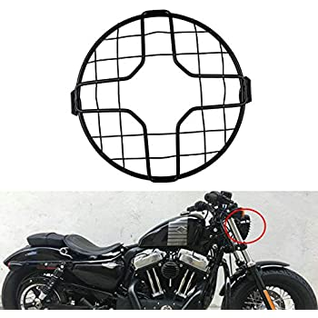 MOTORCYCLE HEADLIGHT STONE GUARD 5.75 inch Cafe racer bobber chopper GLOSS BLK