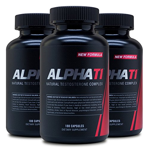 Alpha T1 (180 Caps) (3 Pack) - Testosterone Complex - Natural Testosterone Supplement by Advantage Nutraceuticals