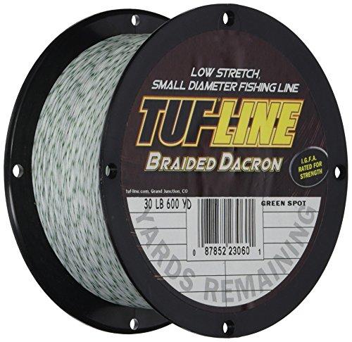 Tuf Line Dacron 600 yd Fishing Line, Green Spot, 50 lb