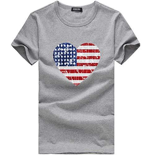 New in Respctful✿Women Summer Tops Casual Scoop Neck T-Shirt Short Sleeve Chiffon USA Tops Shirts Gray ()