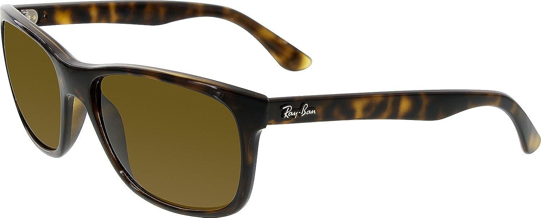c5b598856a8 Ray-Ban Square Wayfarer Sunglasses in Light Havana Polarised 57 Brown  Gradient  Amazon.co.uk  Luggage