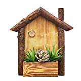 Agordo Hanging Flower Baskets Pot Garden Wood Decor Wall Plant Home Garden Basket S