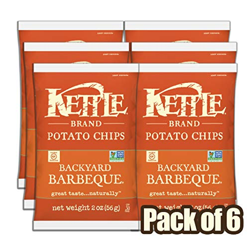 Kettle Brand Potato Chips, Backyard Barbeque, 2 Ounce (Pack of 6)