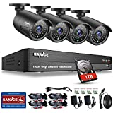 SANNCE 8 Channel 1080P AHD Home Security Camera System DVR Recorder 1TB Hard Drive Preinstalled with 8 AHD 2000TVL 2MP Waterproof Night Vision Indoor/Outdoor CCTV Surveillance Cameras