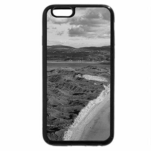 iPhone 6S Case, iPhone 6 Case (Black & White) - five finger beach