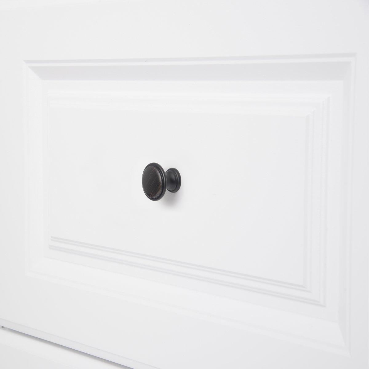 Basics Diametro: 2,9 cm confezione da 25 Cromo lucido Pomolo a fungo piatto per mobili