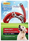 Ruffin' It 100' 1700-Pound Strength Trolley with 10-Feet Cable Tie Out, 920-Pound