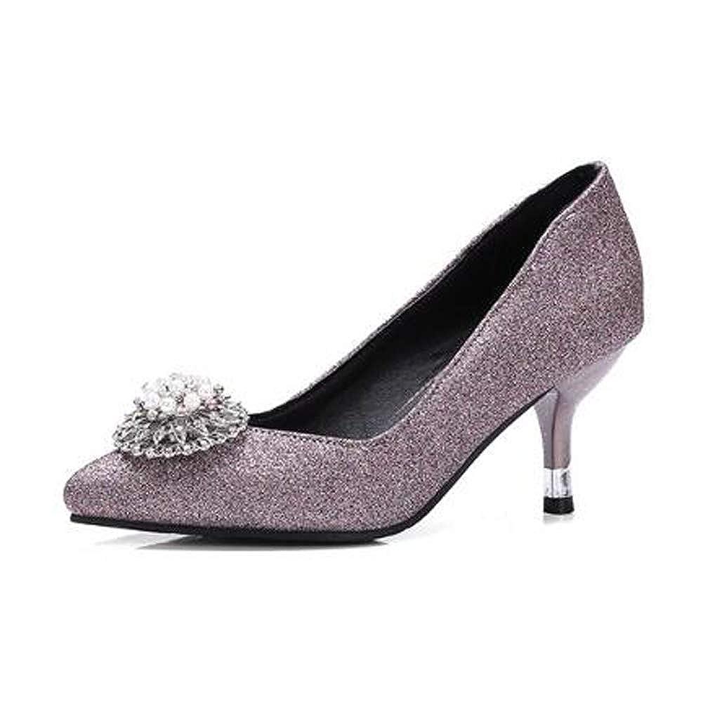 HLG Die hochhackigen Schuhe der Frauen schließen Zeh Zeh Zeh klassische Mary Jane Gerichtshochzeitspumpen ab b53049