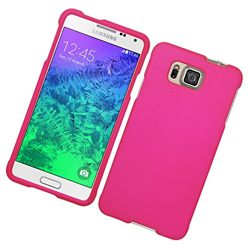 Galaxy Alpha Case, Eagle Cell Rubberized Hard Snap-in Case Cover For Samsung Galaxy Alpha SM-G850A (ATT)/SM-G850T (T-Mobile), Hot Pink