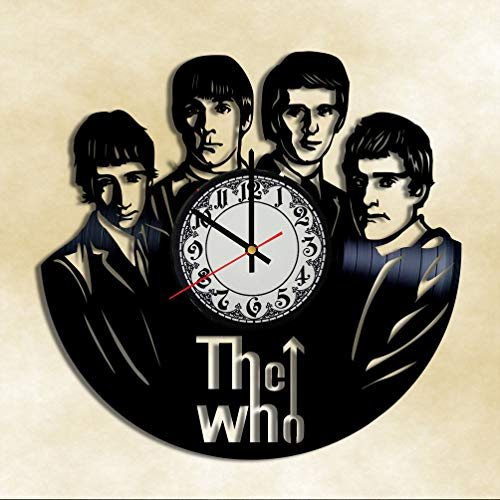 The Who rock group The who vinyl clock The who wall decor The who music decor Vinyl Record Wall Clock ()