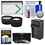 Essentials Bundle for Sony Cyber-Shot DSC-H400, DSC-HX350, DSC-HX400V Digital Camera with NP-BX1 Battery & Charger + Tele/Wide Lenses + 3 UV/ND8/CPL Filter Kit