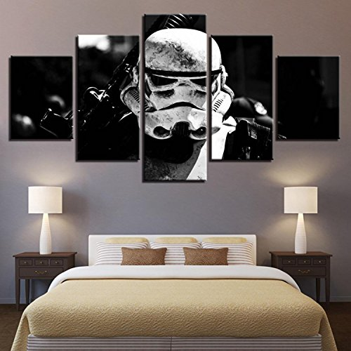 Canvas Paintings For Living Room HD Prints Posters Framework 5 Pieces Star Wars Stormtrooper Movie Pictures Wall Art Home Decor