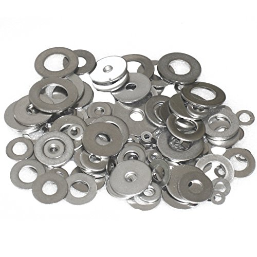 Wideskall Zinc Plated Steel Flat Washers Set Assortment Kit 3 Size 1/2