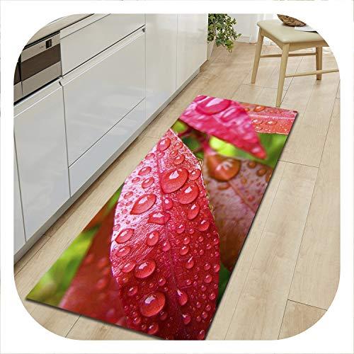 colorful-space Doormat Kitchen Floor Mat Baby Bedroom Beside Mat Absorbent Bathroom Carpet Living Room Carpet Leaf Pattern Matress,ct1074,60x180cm