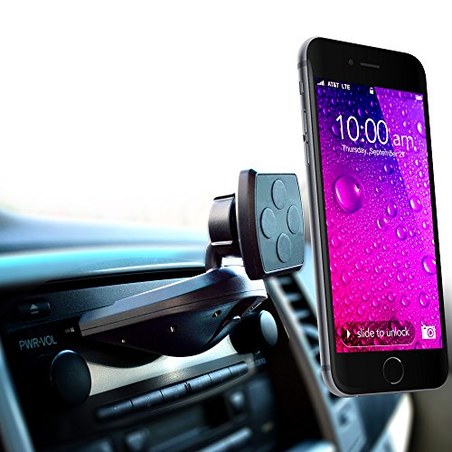 Car Mount  Mintcell Magnetic Cradle Less Smartphone Car Holder   Enhanced Cd Slot One Snap Version For All Iphones And Samsung Galaxy  Note  Lg G4  And Other Cell Phones And Mobile Devices