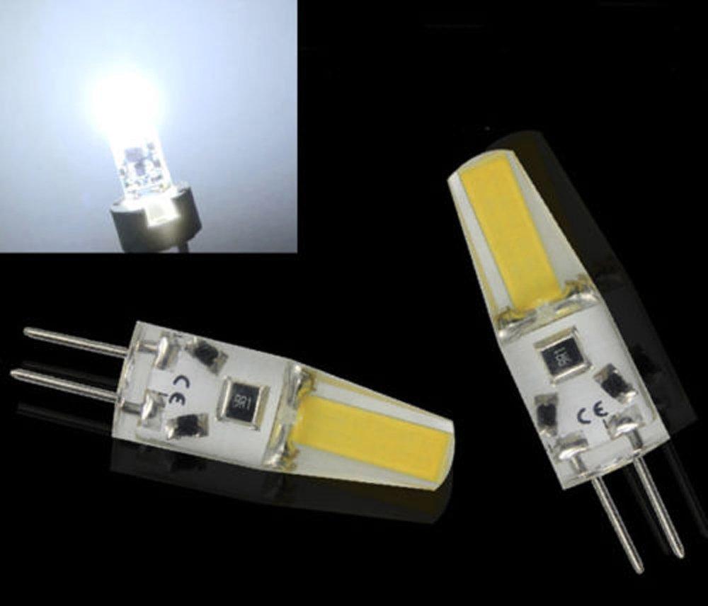 4x Sunix G4 LED COB Lampe Stiftsockel Birne Leuchtmittel Silica 12V Weiß 3W ShuoHui